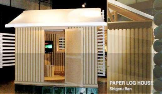 """La """"Paper Log House"""", del arquitecto japonés Shigeru Ban (Foto:  Efimeras.com / 20minutos.es)"""