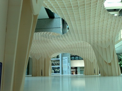 Maqueta del edificio, visto desde su interior. Wikipedia