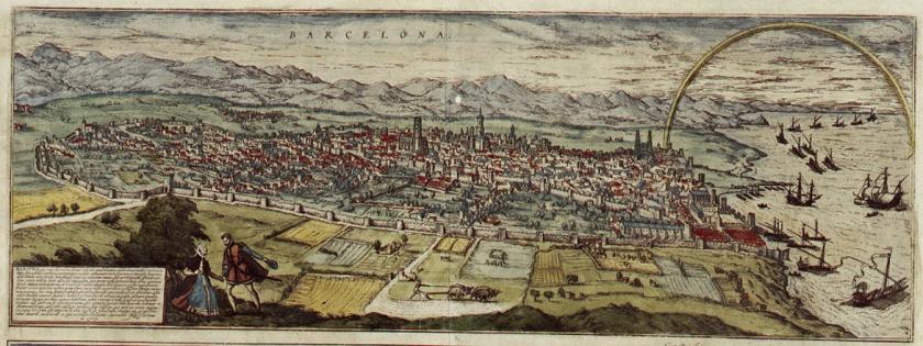 Grabado de Barcelona en la Civitates Orbis Terrarum - Wikipedia