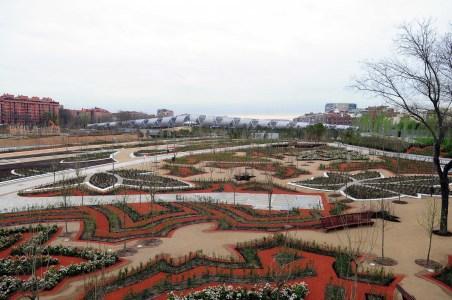 El puente de Arganzuela y los jardines del puente de Toledo, abiertos al público. Foto: Ayuntamiento de Madrid, Proyecto Madrid Río