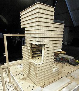 Maqueta del Proyecto de la Torre de la Música para Valencia, España