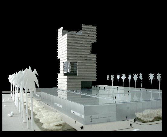 Maqueta de la Torre de la Música y su conjunto  - urbanity.es