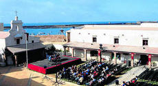 Una de las sesiones en el gaditano Castillo de Santa Catalina. diariodesevilla.es