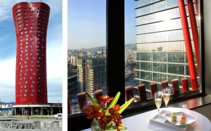 El Hotel Porta Fira de Barcelona es obra del arquitecto japonés Toyo Ito y del estudio b720 Arquitectos.Web del hotel - RTVE.es