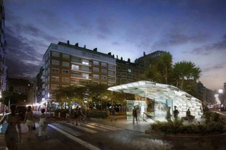 Imagen del proyecto del estudio Snohetta para el metro de Donostialdea. | E.M.