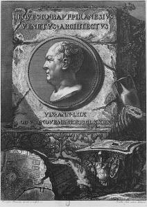 Autorretrato grabado de Giovanni Battista Piranesi. Wikipedia