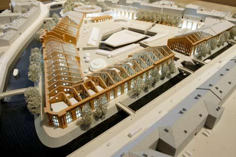 Muestra de los proyectos de reconstrucción de Nueva Holanda en la propia isla de San Petersburgo. Fotos de Itar-Tass - RusiaHoy.com