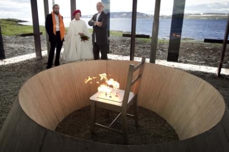 Peter Zumthor junto a la reina de Noruega presentando su último proyecto. | Reuteurs - ElMundo.es