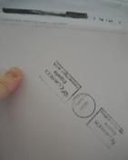 Iluminaciones Nº 4 - en mis manos, dentro de su sobre postal