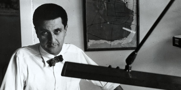 A young Bertrand Goldberg in his Chicago office, 1950s. www.bertrandgoldberg.org