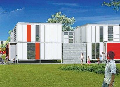 Este es el modelo ganador de concurso de vivienda de emergencia. Su creador lo describe como un gran lego muy funcional. Se construirá durante el evento. ElPais - Colombia