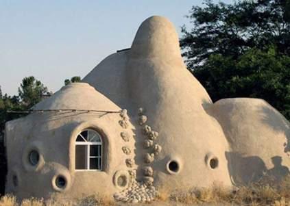 Casa ecológica - Una de las casas construidas por Manos a la Tierra. (Manos a la Tierra)