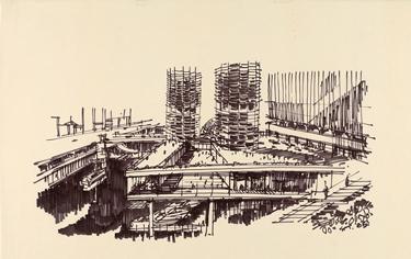 Bertrand Goldberg´s sketch - www.canadianarchitect.com