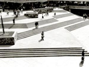 Patio del Mercado Libertad, una de sus obras. Foto: Especial - Milenio online