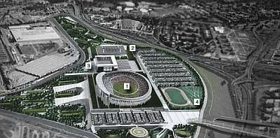 Nuevo Estadio del Atlético de Madrid y su entorno (Proyecto) Marca