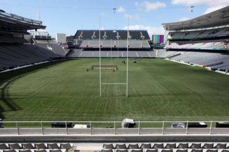 TODO LISTO. Eden Park, una catedral del rugby. (AP) Clarín.com