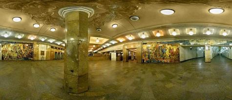 Visitas virtuales de las estaciones del Metro de Moscú - CasaRusia.com