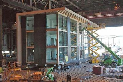 EN FINLANDIA - Una compañía finlandesa construye el primer edificio móvil del mundo. Republica.com / EFE