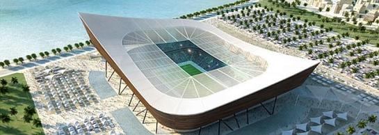 Aspecto que tendrá del estadio Lusalil Iconic de Qatar. Foto: Foster & Partners - elcorreo.com