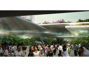 """Imagen de uno de los proyectos ganadores """"proyecto de renovación para la estación de Hangzhou"""" - noticias.terra.es"""