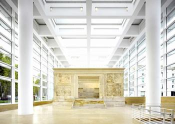 El proyecto del Museo dell'Ara Pacis. ©Roland Halbe www.elporvenir.com.mx