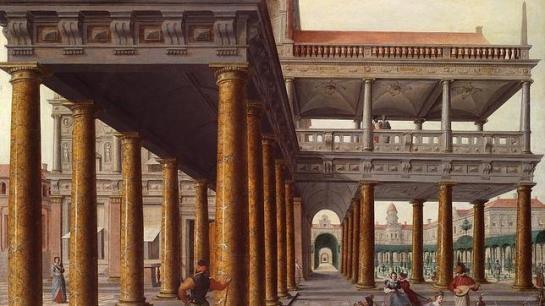 ABC «Arquitectura fantástica con personajes», de Vredeman de Vries