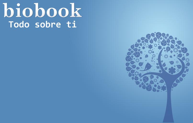 Apariencia de la página principal de Biobook - www.biobook.us