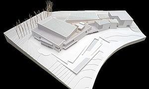 Maqueta del futuro Museo de la Universidad de Navarra.-  www.que.es