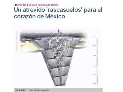 Gran torre cónica a 300 metros bajo tierra, que podría estar habitada por más de 100 mil personas. PRI Elpais.com