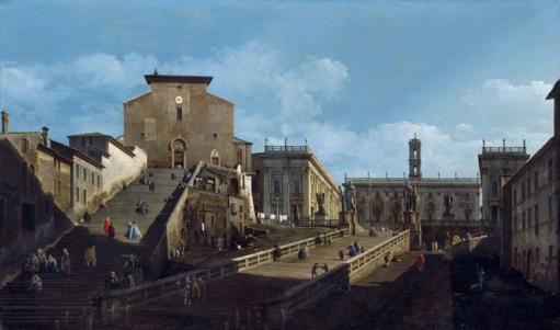 Santa María d'Aracoeli y el Capitolio en Roma', por Bernardo Bellotto- (EXPOSICIÓN 'ARQUITECTURAS PINTADAS')