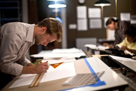 Ramin Talaie for The Wall Street Journal - Student Peter Spalding works on designs at the Beaux-Arts Atelier, which emphasizes the importance of knowing how to draw and paint the elements of classical architecture