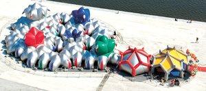 """PROYECTO AMOCOCO. La compañía """"Arquitectos de Aire"""" creó una propuesta mediante estructuras inflables que se inspiran en las formas geométricas de la naturaleza (Foto: DIANA BERNAOLAEFE ) El Universal"""