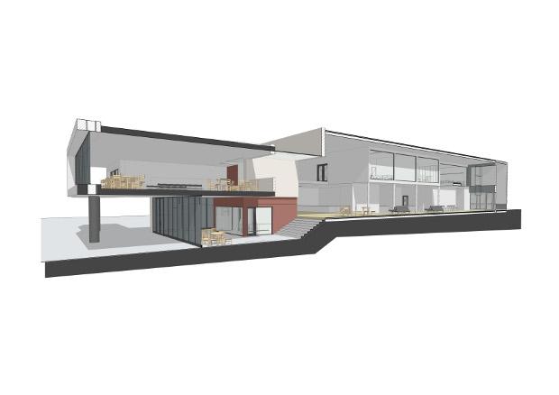 Corte del Bloque de la Edificación - Imagen: OM2A Arquitectos Asociados – Bruno Antunes