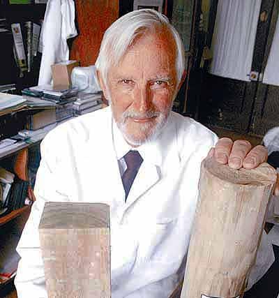 Burkhard Seeger, químico de la Universidad de Concepción, creador del preservante. El Mercurio.com