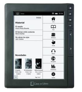 Tagus, el nuevo 'e-reader' de Casa del Libro. CDL / RTVE.es