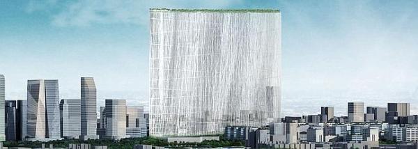 Miles de varas de acero que se iluminan de noche con tecnología LED elevan al cielo 300 metros cuadrados de jardín. / Foto: Sou Fujimoto Architects - www.eldiariomontanes.es
