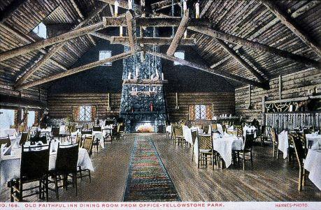 Undated Frank Jay Haynes postcard of Old Faithful Inn Dining Room  - Wikimedia Commons