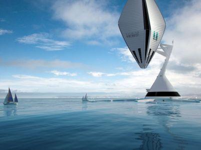 AIRCRUISE. Este proyecto experimental trabajó sobre la idea de un hotel en el aire, un nuevo concepto de transporte. Clarín, Arq - Diseño