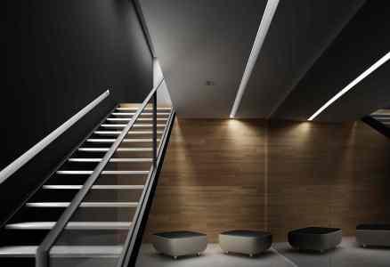 Fotorealismo (render) de interior con soluciones Plightster - Imagen: Cortesía BARASONA Diseño y Comunicación