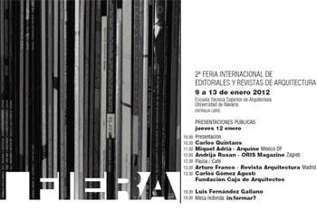 Cartel de la II Feria Internacional de Editoriales y Revistas de Arquitectura (UN, España)