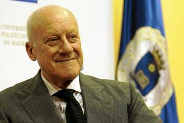 Norman Foster en la Politécnica de Madrid. Foto: Expansion.com