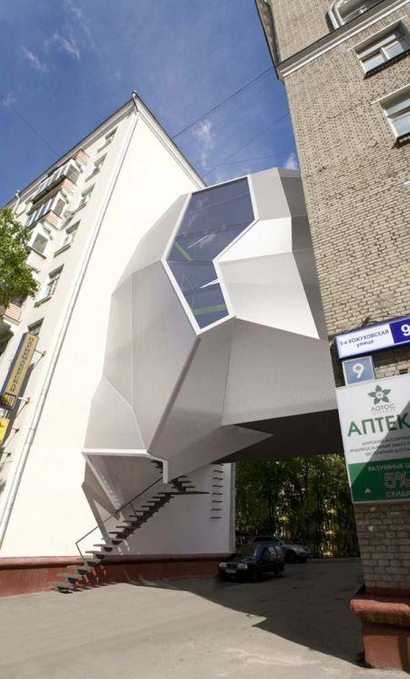 Parasite Office, Moscu - Russia. Photo: www.inewidea.com