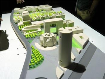 Maqueta del proyecto Sociópolis