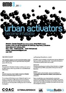 Afiche del Taller Urban Activators