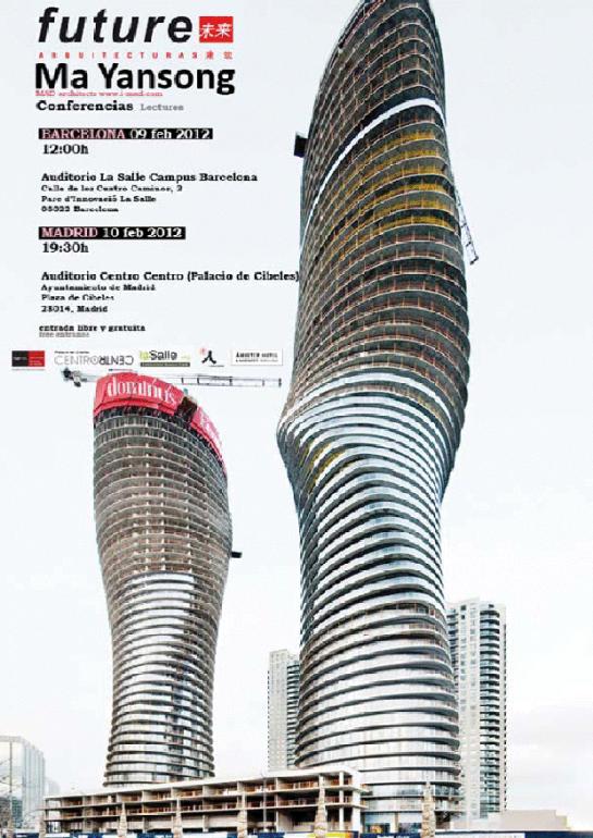 Ma Yansong en Madrid y Barcelona - Conferencias ( vía revista future )