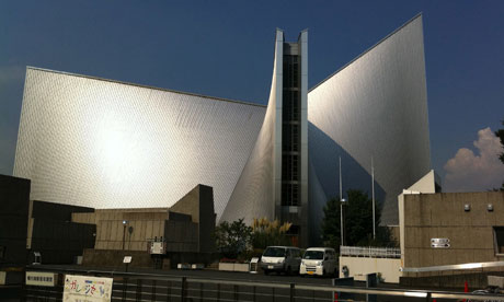 St Mary's Cathedral, Kenzo Tange. Photograph: vlayusuke on Flickr/some rights reserved