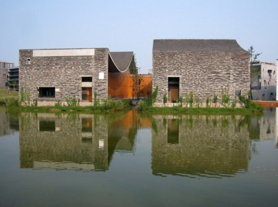Una de las sedes de la Academia de Arte de China, diseñada por el arquitecto Wang Shu - 20minutos.es