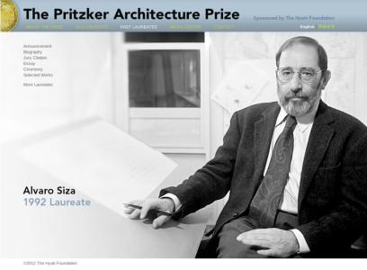 Alvaro Siza, Premio Pritzker 1992