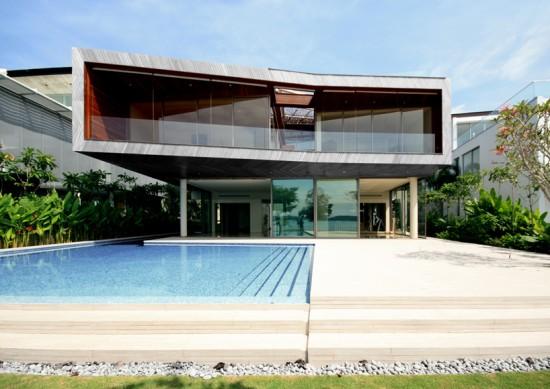 Con sede en Singapur oficina de arquitectos pencil office ha revelado las imágenes de la casa estereoscópica '