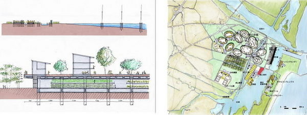 """Composición facilitada por el arquitecto japonés Shoichi Hryu del proyecto de una ciudad imaginada como una """"isla flotante sobre la tierra"""" Efe / Shoichi Haryu - LaVanguardia.com"""